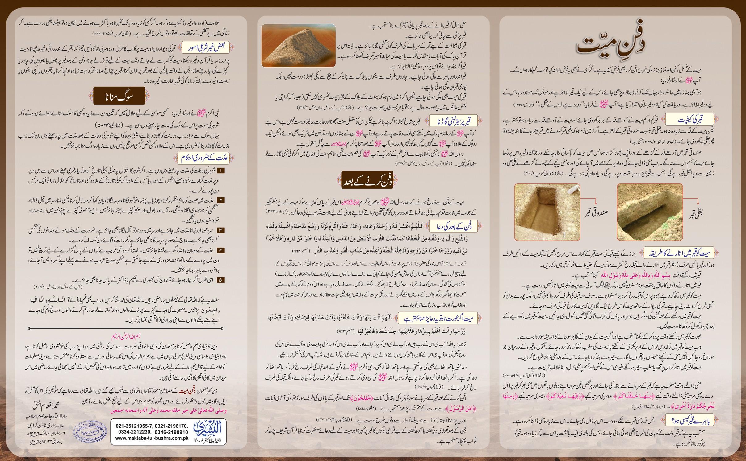 Chart Dafan-e-Mayyat
